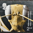A stamp printed in Great Britain shows Head of Gigantios descructor (Ant) — Foto Stock