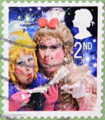 Vánoční známka vytištěna ve Velké Británii ukazuje zlé sestry z Popelky — Stock fotografie