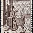 Stock Photo: Stamp printed in Belgium shows JeFroissart