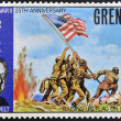 Stamp printed in Grenada shows a portrait of U.S.A President Roosevelt, World War II 25th anniversary — Stock Photo