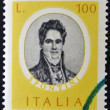 Stamp printed in Italy, dedicated to Famous musicians shows Gaspare Spontini — Stock Photo