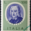 Stamp printed in Italy, dedicated to Famous musicians shows Alessandro Scarlatti — Stock Photo