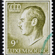 A stamp printed in Luxembourg shows image of Grand Duke Jean — Foto Stock