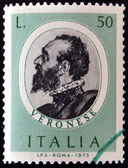Stamp printed in Italy shows Paolo Veronese — Stock Photo