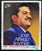 Un timbre imprimé au mexique montre jose alfredo jimenez — Photo
