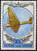 A stamp printed in Russia shows the Airplane TB-3 (ANT-6) — Stock Photo