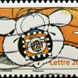 A stamp printed in France shows Cubitus, fictional dog character — Stock Photo