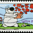 Stock Photo: Stamp printed in France shows Cubitus, fictional dog character