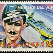 Stamp printed in Guinea dedicated to air heroes, shows Adolf Galland, historic aviator of the Second World War — Stock Photo