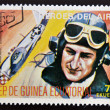 Stamp printed in Guinea dedicated to air heroes, shows F. S. Gabreski, historic aviator of the Second World War — Stock Photo