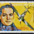 Stamp printed in Guinea dedicated to air heroes, shows Douglas Bader, historic aviator of the Second World War — Stock Photo