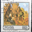 Stamp printed in Panamshows Adoration of Magi by Alverto Durer — Stock Photo #13552888