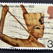Stock Photo: Stamp printed in Great Britain shows Commemoration of discovery of Tutankhamun's tomb in 1922