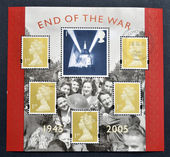 Stamp printed in Great Britain dedicated to 60th Anniversary of End of the Second World War — Stock Photo