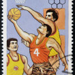Stock Photo: Stamp printed in Cubdedicated to Olympic Games in Barcelon1992 shows basketball