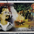 Stock Photo: NICARAGU- CIRC1980: stamp printed in Nicaragushows Carlos Fonseca, founder of SandinistNational Liberation Front, circ1980