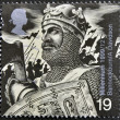 A stamp printed in Great Britain shows Robert the Bruce (Battle of Bannockburn, 1314) — Stock Photo