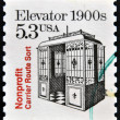 Stamp printed in USshows Elevator 1900s, nonprofit carrier route sort — Stockfoto #13670277