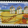 Stockfoto: FRANCE - CIRC2005: stamp printed in France dedicated to vacations, circ2005