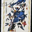 Stock Photo: HAITI - CIRC1975: stamp printed in Haiti shows Blue Jay, circ1975