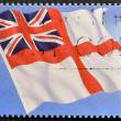 UNITED KINGDOM - CIRCA 2001: A stamp printed in Great Britain shows royal navy flag, circa 2001 — Stock Photo