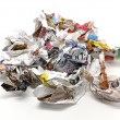 Crumpled paper balls and thrown — Foto Stock