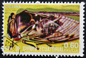 EQUATORIAL GUINEA - CIRCA 1973: stamp printed in Guinea dedicated to insects shows cicada, circa 1973 — Stock Photo