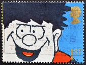 UNITED KINGDOM - CIRCA 1990: A stamp printed in Great Britain shows Dennis the Menace, circa 1990 — Stock Photo