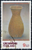 THAILAND - CIRCA 1995: A stamp printed in Thailand shows traditional wicker basket with conical shape, circa 1995 — Stock Photo