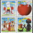 Stamps printed in Brazil dedicated to the cartoonist Ziraldo — Stock Photo