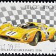 Stock Photo: Stamp printed in Belgium shows Ferrari 330p (1967)