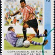 Stamp printed in cubdedicated to Football World Cup France 98 — Stock Photo #14016279