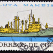 Stock Photo: Stamp printed in Cubdedicated to Mambisfleet, shows SierrMaestrship