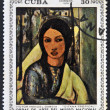Royalty-Free Stock Photo: A stamp printed in cuba dedicated to works of art from the National Museum, shows \