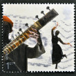 A stamp printed in Great Britain dedicated to sounds of Britain shows Bollywood and Bhangra — Stock Photo