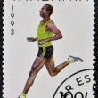Stamp printed in Tanzanishows marathon — Stock Photo #14016693