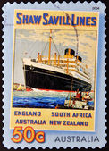 A stamp printed in Australia shows Shaw Savill Lines — Stock Photo