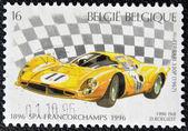 A stamp printed in Belgium shows Ferrari 330p (1967) — Foto Stock
