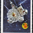 Stock Photo: CUB- CIRC1967 : stamp printed in Cubshows soviet Mars space station, circ1967