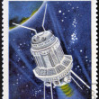 CUBA - CIRCA 1967: A stamp printed in Cuba shows the Soviet space probe Luna 3, circa 1967 — Stock Photo