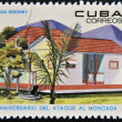 CUBA - CIRCA 1968: Stamp printed in Cuba dedicated to anniversary of the attack on the Moncada Barracks, shows Siboney farm, circa 1968 — Stock Photo #14182973