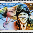 FRANCE - CIRCA 2000: A stamp printed in France show Charles Lindbergh, Spirit of St. Louis, circa 2000 - Stock Photo