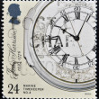 Stock Photo: UNITED KINGDOM - CIRC1993: stamp printed in Great Britain shows Marine Chronometer by John Harrison, inventor, circ1993