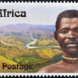 SOUTH AFRICA - CIRCA 2006: A stamp printed in RSA dedicated to Centennial Bhambatha Rebellion, circa 2006 — Zdjęcie stockowe