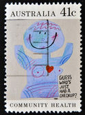 "AUSTRALIA - CIRCA 1990: A Stamp printed in Australia shows the Caricature ""Medical checkups"", Community health, circa 1990 — Foto Stock"
