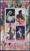 BURUNDI - CIRCA 2009: Stamps printed in Burundi shows arab horses, circa 2009 — Stok fotoğraf