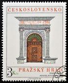 CZECHOSLOVAKIA - CIRCA 1980: A stamp printed in Czechoslovakia, show the Cover of Stary palace in Bratislava, circa 1980 — Stockfoto