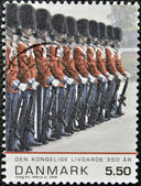DENMARK - CIRCA 2008: A stamp printed in Denmark shows the royal guard, circa 2008 — Stock Photo