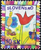 SLOVAKIA - CIRCA 2006: A stamp printed in Slovakia dedicated to Children Day, circa 2006 — Stockfoto