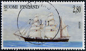 FINLAND - CIRCA 1997: A stamp printed in Finland shows Shipping, Sigyn, circa 1997 — Foto Stock